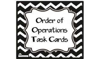 Order of Operations QR Code Task Card