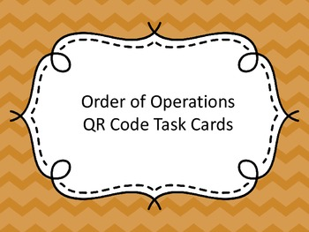 Order of Operations QR Code Task Cards