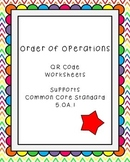 Order of Operations QR Code Worksheets Common Core Standar