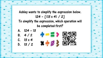 Order of Operations QR Codes