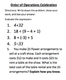 Order of Operations Quiz Bundle