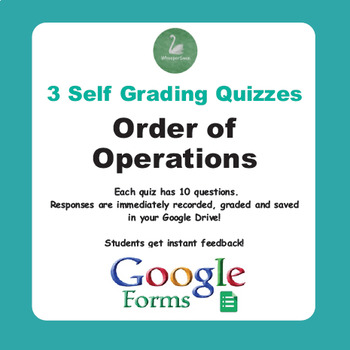 Order of Operations Quiz (Google Forms)