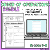 Order of Operations Quiz with Answer Key