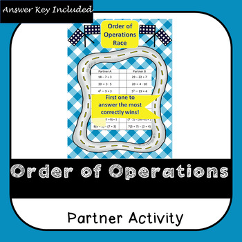 Order of Operations Racing Game