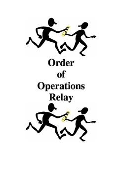Order of Operations Relay pdf version