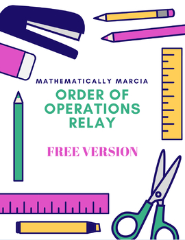 FREE Order of Operations Relay