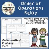 Order of Operations Relay PEMDAS