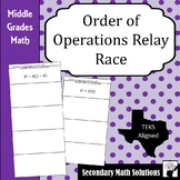 Order of Operations Relay Race