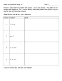 Order of Operations RelayGame