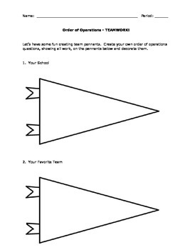 Order of Operations Review Activity