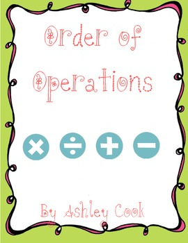 Order of Operations Review Elementary Age