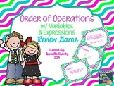 Order of Operations Review Game