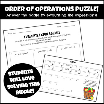 Order of Operations Riddle