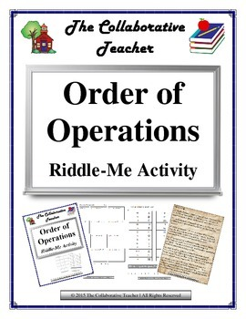 Order of Operations Riddle-Me Activity