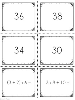 Order of Operations SPOONS Math Game