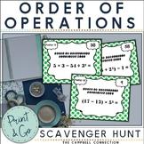 Order of Operations Worksheets Scavenger Hunt
