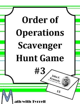 Order of Operations Scavenger Hunt Game #3