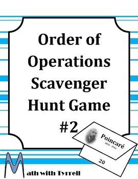 Order of Operations Scavenger Hunt Game #2
