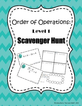 Order of Operations Scavenger Hunt Level 1