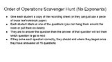 Order of Operations Scavenger Hunt (No Exponents)