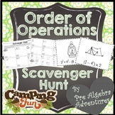 Order of Operations Scavenger Hunt {PEMDAS } {Algebra Activity} {Algebra Games}