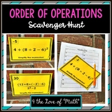 Order of Operations: Scavenger Hunt