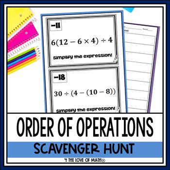 Order of Operations: Scavenger Hunt