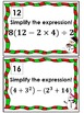 Order of Operations Scavenger Hunt *QR Codes Optional* Winter Themed
