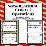 Order of Operations Scavenger Hunt *QR Codes Optional* Win