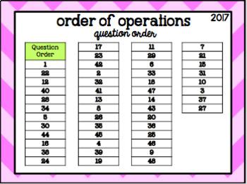 Order of Operations Scavenger Hunt Task Cards!