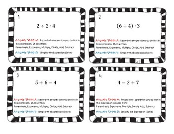 Order of Operations Scoot - 2 Levels up to 30 task cards each