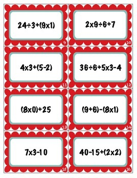 Order of Operations Scoot Game