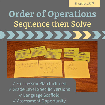 Order of Operations - Sequence then Solve