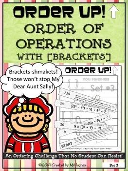 Order of Operations Set 3 [with Brackets] - Order Up!