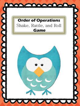 Order of Operations Shake Rattle and Roll Game.