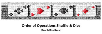 Order of Operations Shuffle&Dice