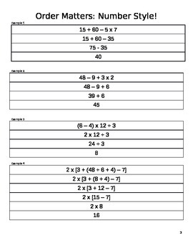 Order of Operations/Simplifying Expression Lesson Plan (5-E)