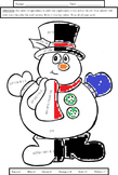Order of Operations: Snowman Coloring Sheet