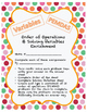 Order of Operations & Solving Variables Enrichment