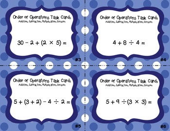 Order of Operations - Solving the Equation