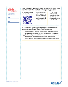 Order of Operations | FREE Game, Worksheet, & Fun Video | 5th-6th Grade
