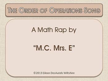 Order of Operations Song (with bonus PEMDAS verse)