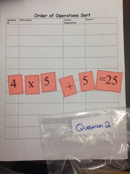Order of Operations Sort-Common Core!!