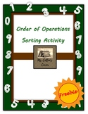 Order of Operations Sorting Activity