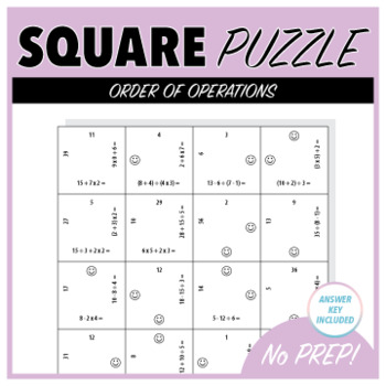 Order of Operations - Square Puzzle