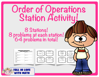 Order of Operations Station Activity!  (PEMDAS)