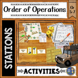 Order of Operations Math Stations