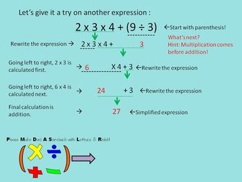 Order of Operations Step-by-Step (No brackets or exponents)