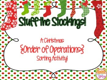 Order of Operations Stuff the Stockings Sort
