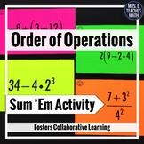 Order of Operations Sum Em Activity
